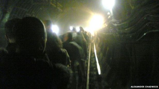 Figure 20: Alexander Chadwick (2007), Mobile Phone Image of People Caught in the 7/7 Bombings