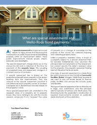 Client Q&A: What are special assessments and Mello-Roos ...