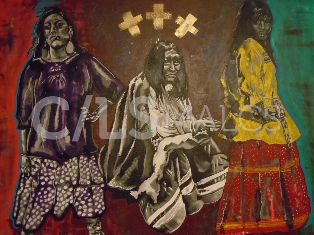 """Spirit of the Dresses"" by Carrie Reede Curley (Apache)"