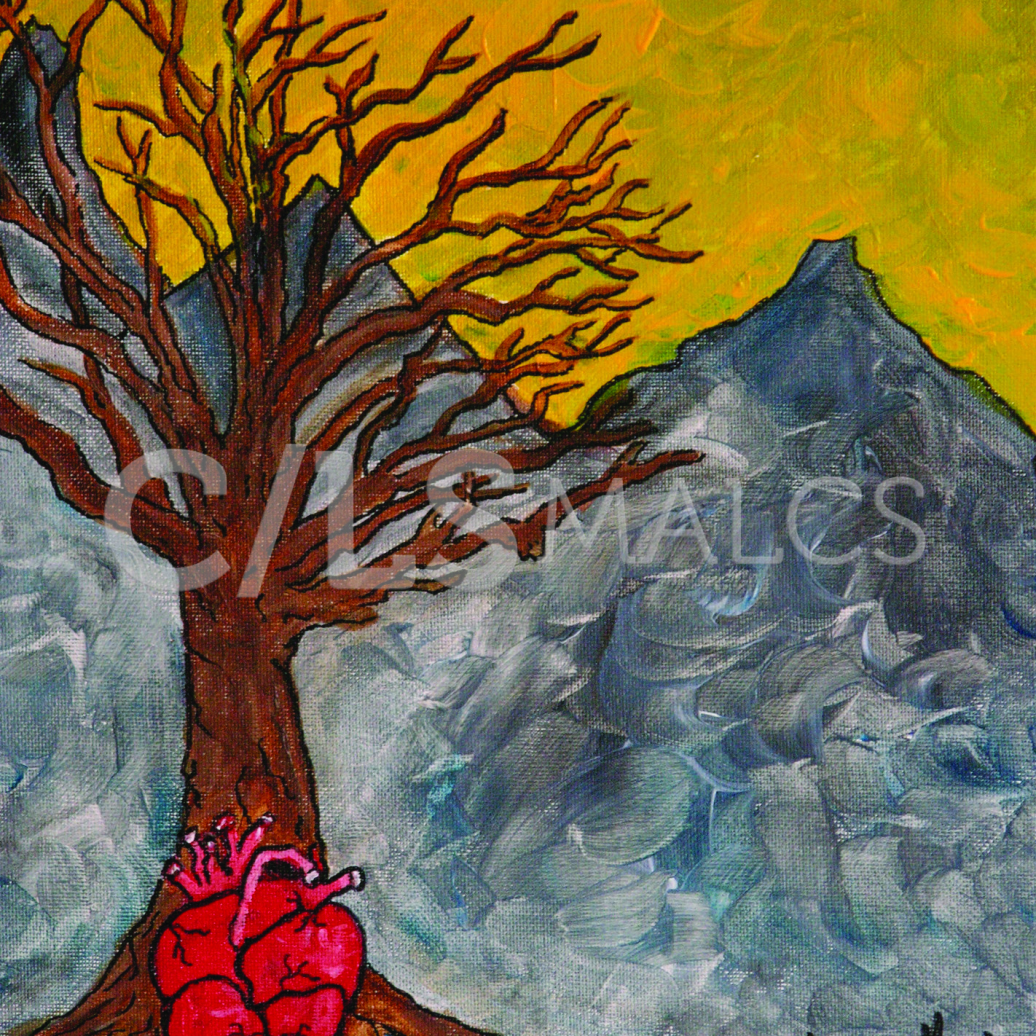 """Detail from """"Trees"""" (2005) by Anna-Marie Lopez"""