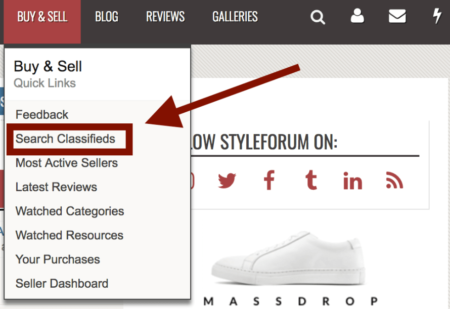 new Styleforum Classified System xenforo