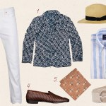 Spring Style: Printed Blazer with White Jeans