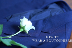 how to wear a boutonniere styleforum