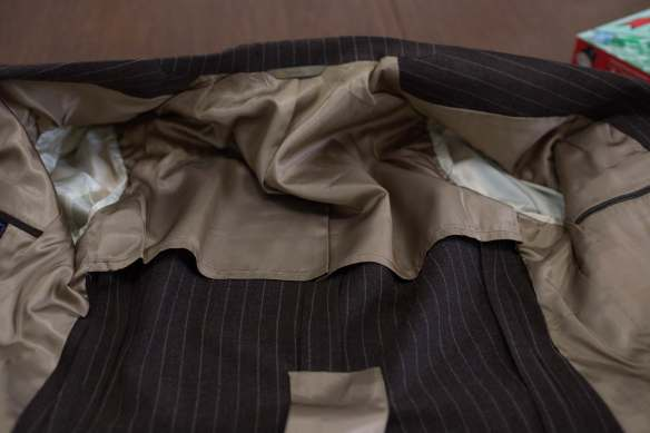 Half lining 60s flannel suit. thrifting menswear thrifted menswear guide to thrifting styleforum