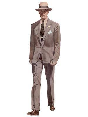 suit silhouettes by decade styleforum