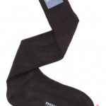 Pure silk black formal socks