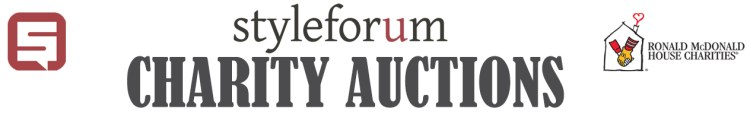 Styleforum charity auctions ronald mcdonald house charity auctions