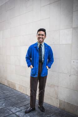 chore coats blue workwear casual tailored
