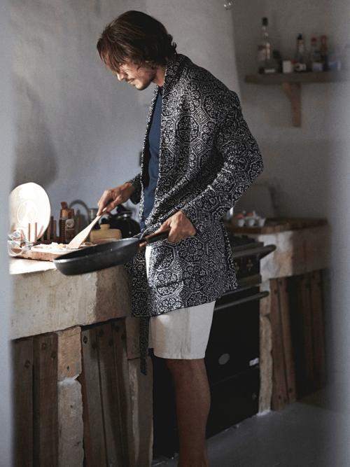 antonio ciongoli jaquard pajamas loungewear luxury menswear