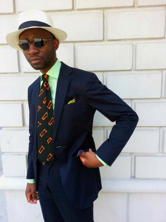 summer tie bold colors office