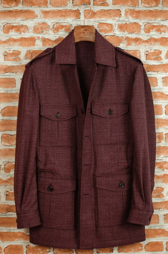 Lopez Aragon jacket burgundy