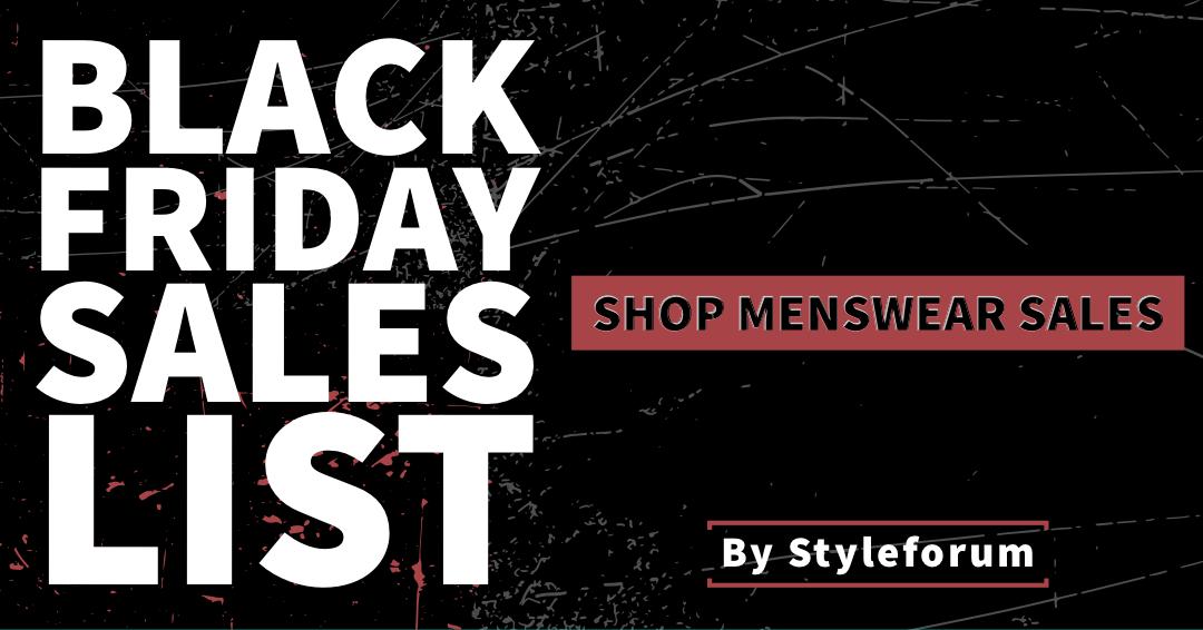 Cyber Monday Menswear Sales