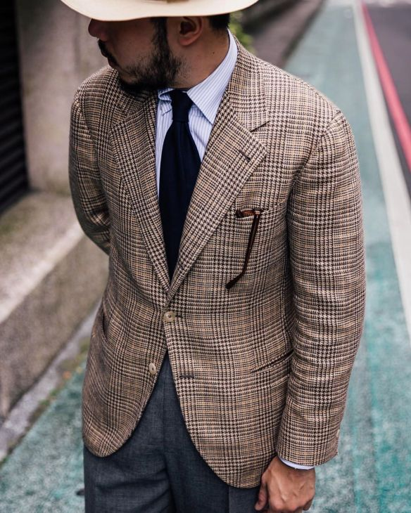 Bespoke jacket by The Anthology on @wwc.willy made from vintage wool-silk-linen cloth.