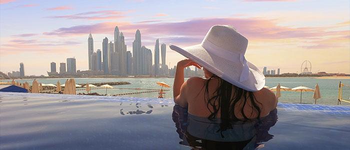 Luxury holiday in Dubai, United Arab Emirates.