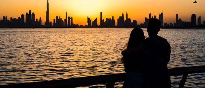 Top Romantic Destinations In the world - Sunset in Dubai.