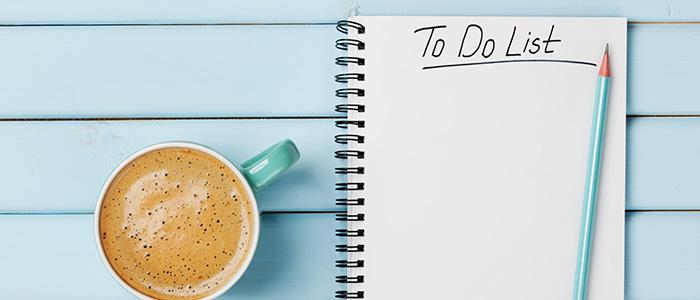 make a list.