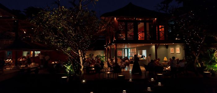 things to do in Bali at night - Dinner under the stars