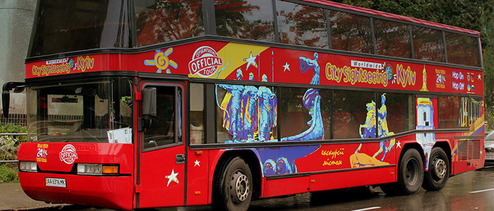 explore the city in a bus