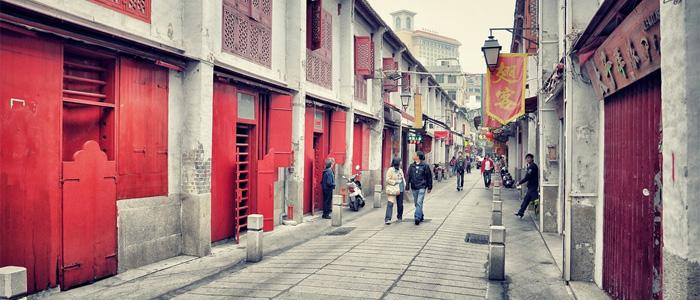 macau red street