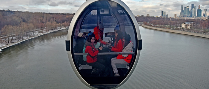 Gondola ride Moskva river