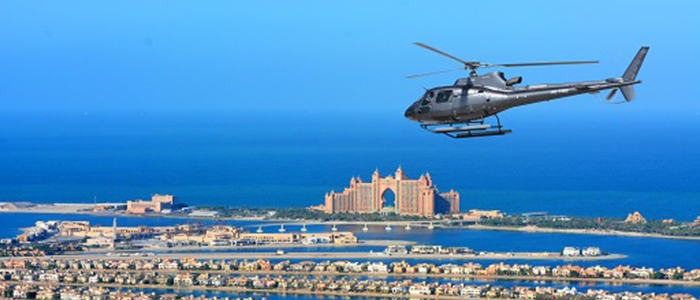 Helicopter ride in Dubai