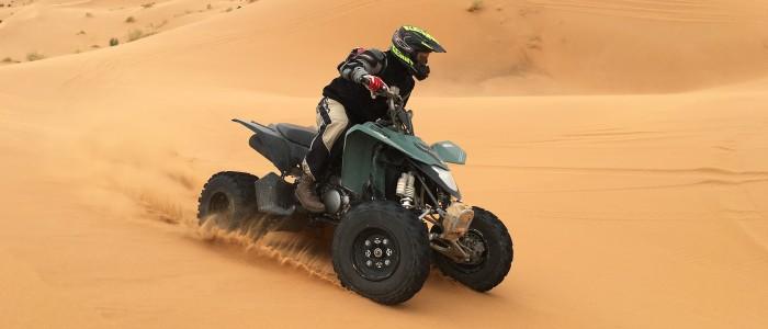 quad biking sahara desert
