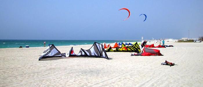 surfing and adventure sports at dubai beach