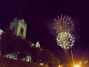Courthouse fireworks