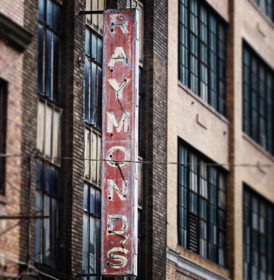 Raymonds Neon sign