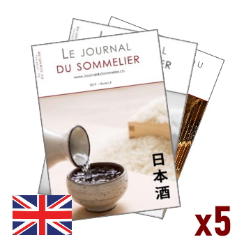 Illustration of 5 issues subscription to the Journal du Sommelier