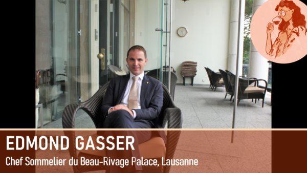 Edmond Gasser, chef sommelier au restaurant d'Anne-Sophie Pic Lausanne