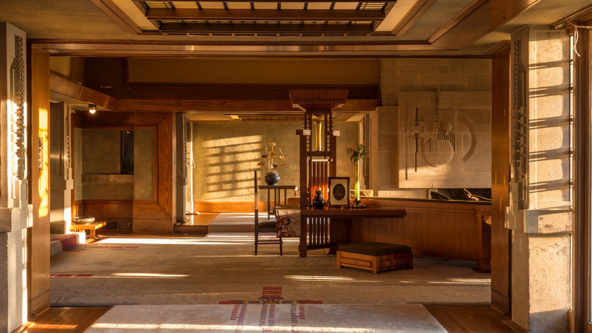 A look inside Frank Lloyd Wrights Hollyhock House