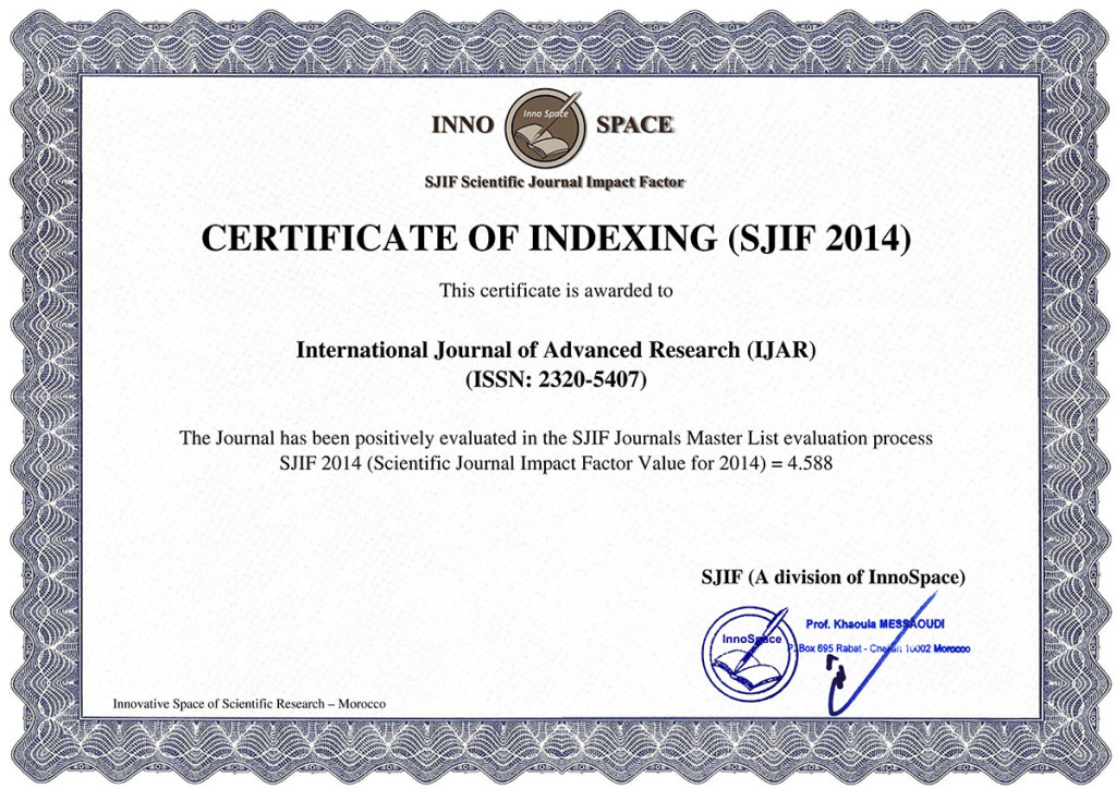 Impact Factor of IJAR