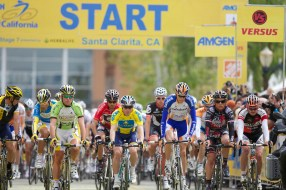 Santa Clarita Race Start Pro Cycling Amgen Tour of California