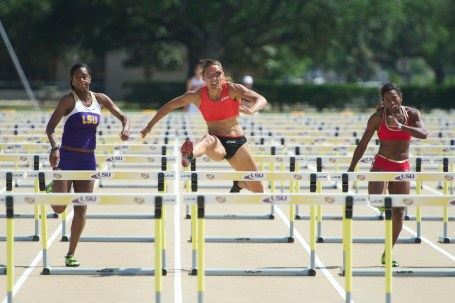 Hurdles LSU Track & Field Athletes Sports Tigers Lolo Jones