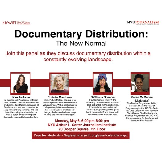 Documentary Distribution: The New Normal (read below for full text)