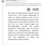 Polizei Brandenburg entfernt Beamte (Bild: Twitter)