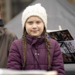 Fridays for Future Swedish climate activist Greta Thunberg attends rally in Hamburg Germany schw