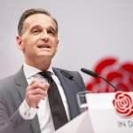 SPD Parteitag. Bundesaussenminister Heiko Maas, SPD, spricht auf dem Bundesparteitag der SPD in Berlin. 08.12.2019. Berl