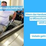 Dach-Live-Fahrverbot-Dachdecker-Rolltreppe