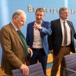 Deutschland, Berlin, Bundespressekonferenz, Thema AfD – Auswirkungen der Landtagswahlen in Thüringen auf die Bundespolit
