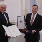 Bundespräsident Frank-Walter Steinmeier , Mario Draghi, ehemaliger Präsident der Europäischen Zentralbank, Deutschland,