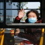 (200223) — WUHAN, Feb. 23, 2020 — A recovered COVID-19 patient leaves the Zhongfaxincheng campus of Tongji Hospital af