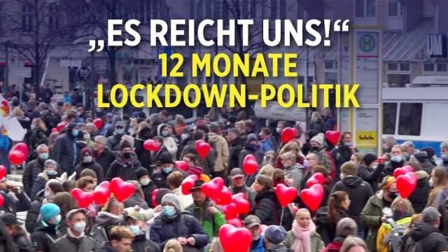 """12 Monate Lockdown-Politik: """"es reicht uns"""