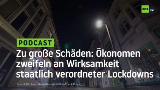 Zu große Schäden: Ökonomen zweifeln an Wirksamkeit staatlich verordneter Lockdowns; Bild: Startbild Youtube