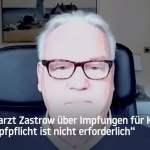 """Hygienearzt Zastrow über Impfungen für Kinder: """"Eine Impfpflicht ist nicht erforderlich""""; Bild: Startbild Youtube"""