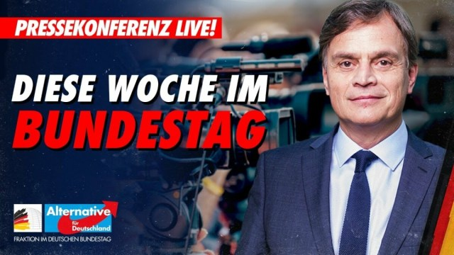 Pressekonferenz der AfD-Fraktion; Foto: Startbild Youtube
