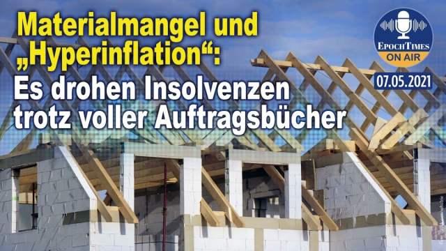 """Materialmangel und """"Hyperinflation"""": Es drohen Insolvenzen trotz voller Auftragsbücher; Bild: Startbild Youtube"""