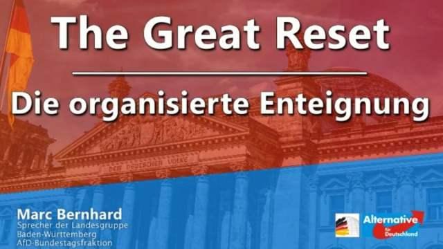 The Great Reset - Die organisierte Enteignung   Marc Bernhard; Bild: Startbild Youtube