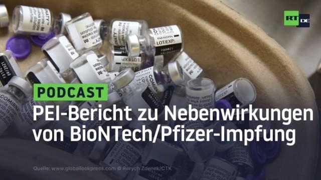 Paul-Ehrlich-Institut legt Bericht zu Nebenwirkungen nach BioNTech/Pfizer-Impfung vor; Bild: Startbild Youtube
